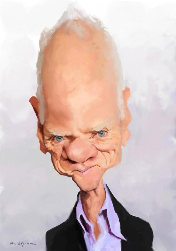 Caricatura de Malcolm McDowell