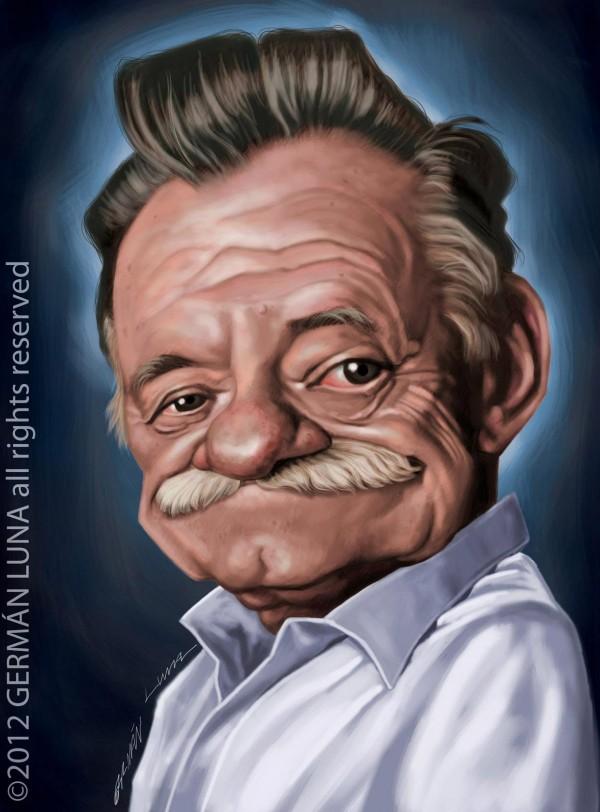 Caricatura de Mario Benedetti
