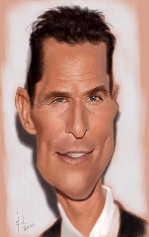 Caricatura de Matthew McConaughey