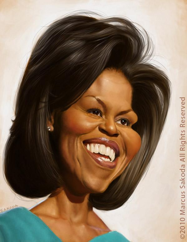 Caricatura de Michelle Obama