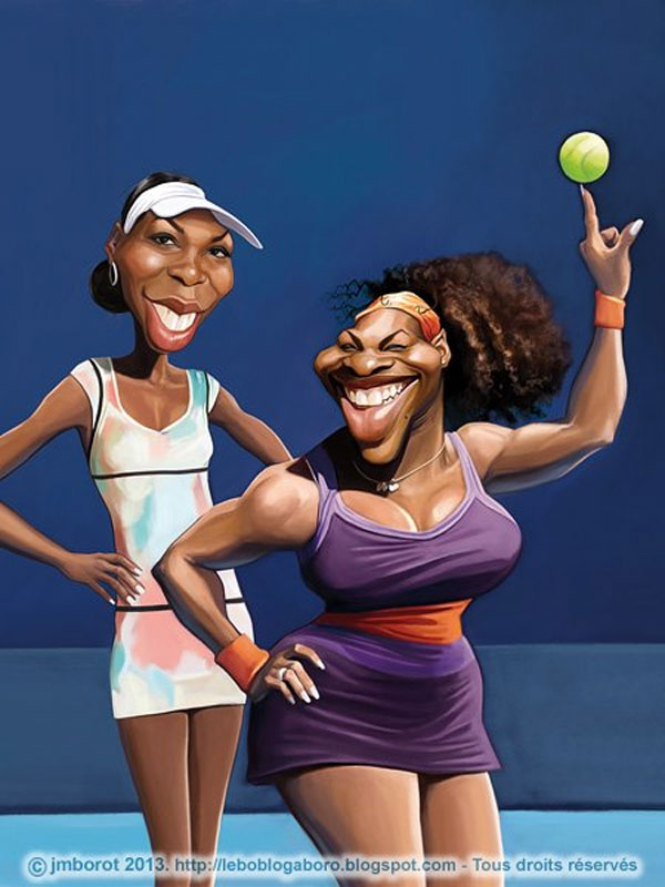 Caricatura de Serena y Venus Williams