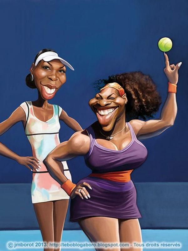 Caricatura de Serena y Venus Williams