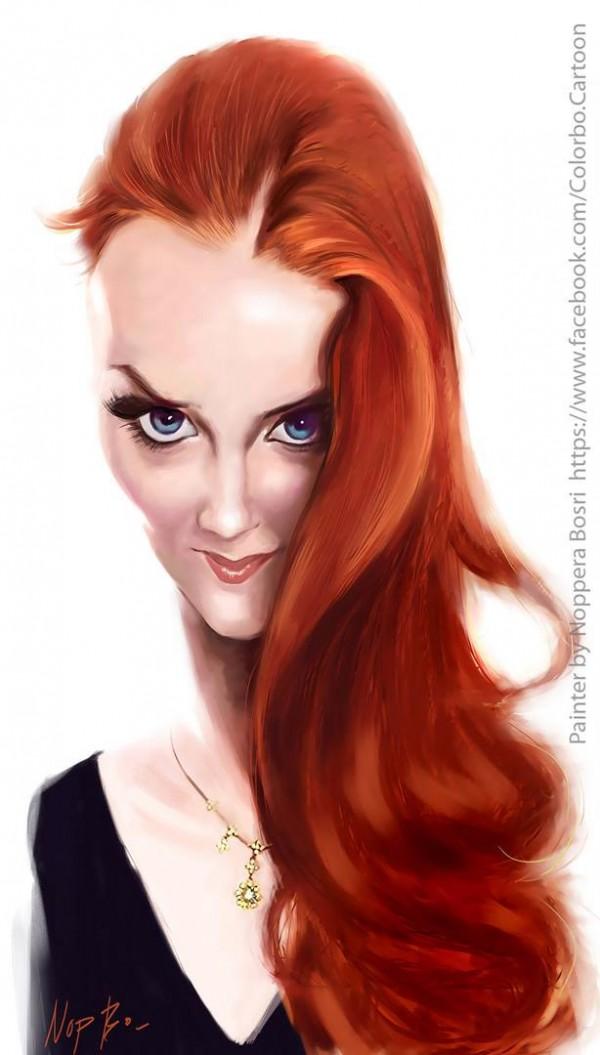 Caricatura de Simone Simons