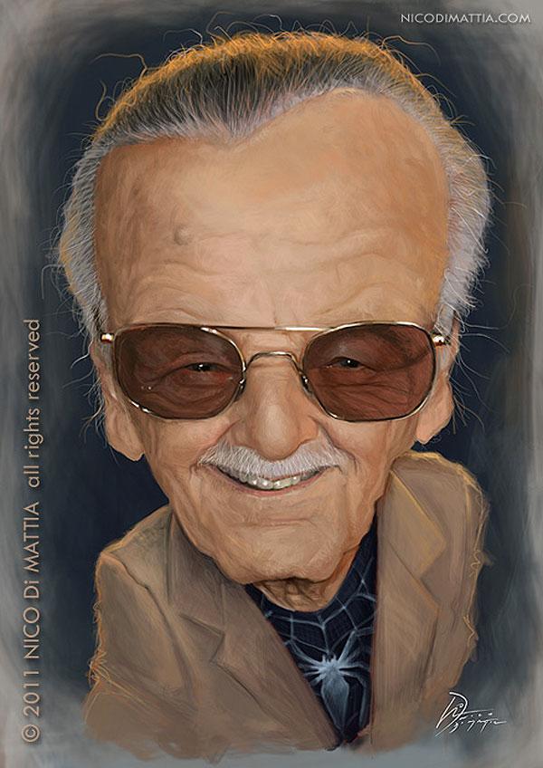 Caricatura de Stan Lee
