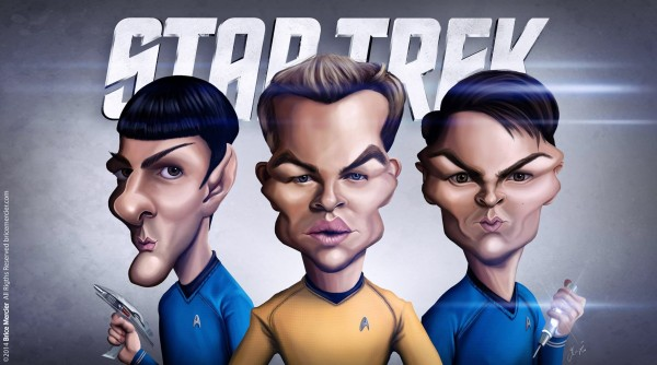 Caricatura de Star Trek