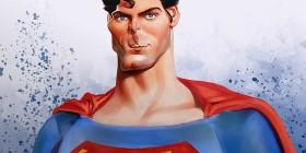 Caricatura de Superman (Christopher Reeve)