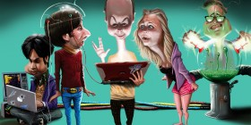 Caricatura de The Big Bang Theory