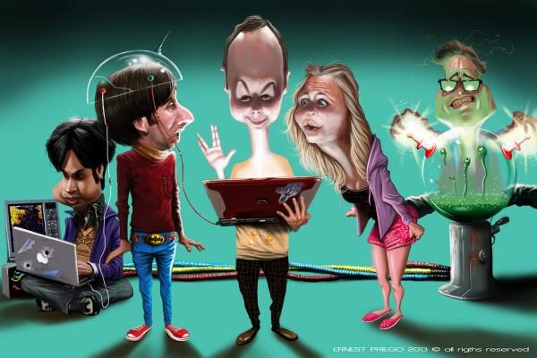 Caricatura de The Big Bang Theory