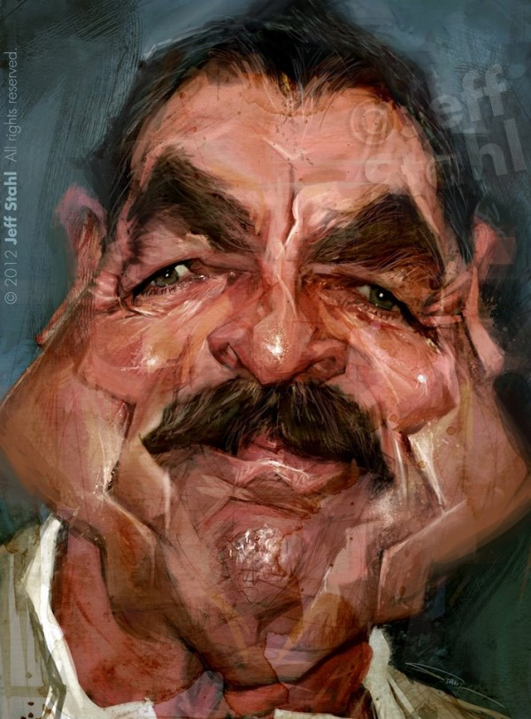 Caricatura de Tom Selleck