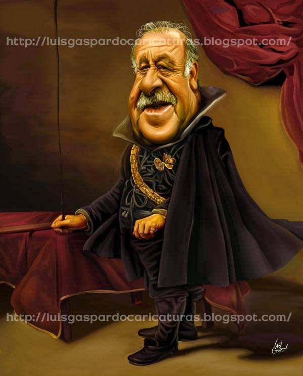 Caricatura de Vicente del Bosque