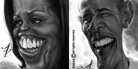 Caricatura de los Obama