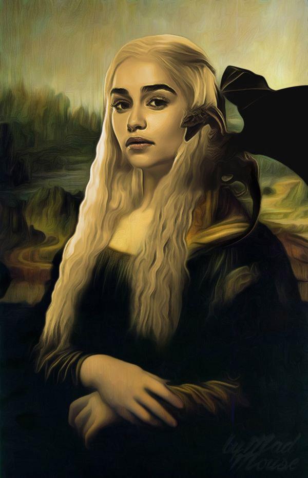 Daenerys Targaryen como La Mona Lisa