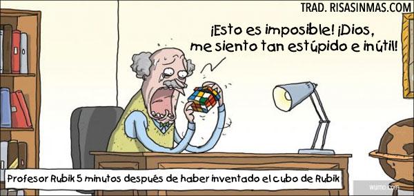 El profesor Rubik y su nuevo invento