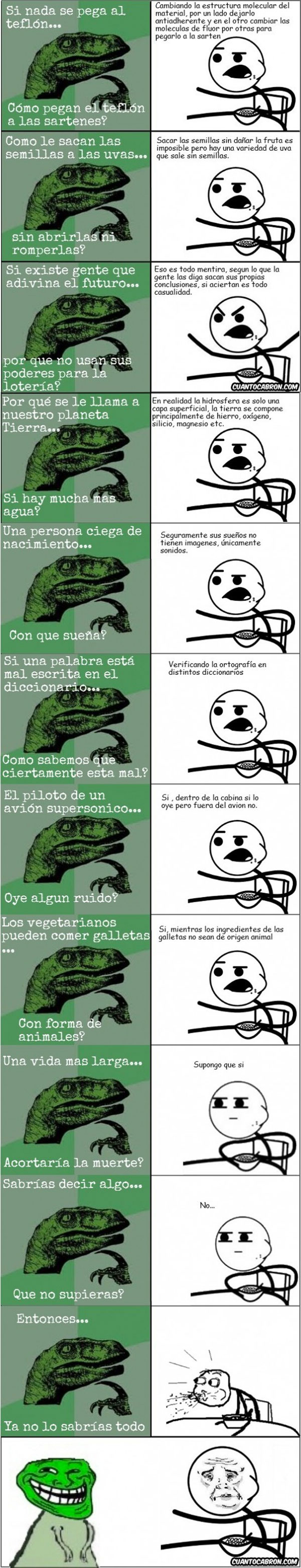 Filosoraptor vs Cereal guy