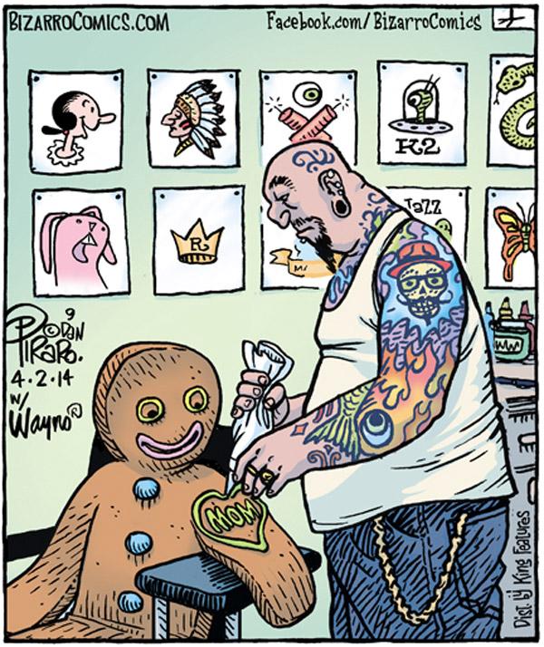 Galleta de jengibre tatuándose