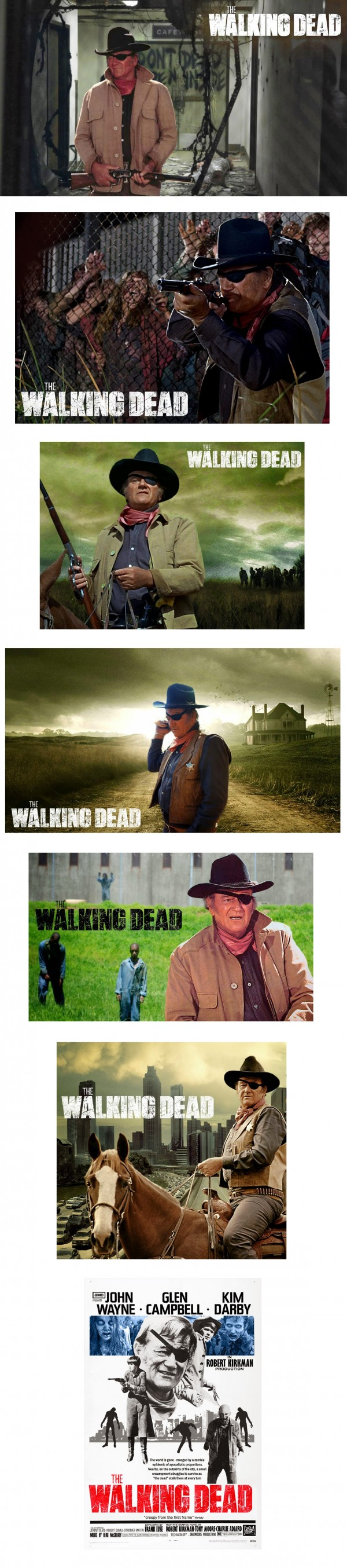 John Wayne protagonista en The Walking Dead