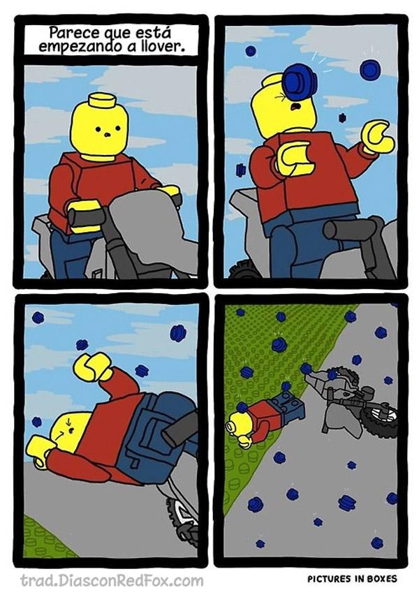 La lluvia en el mundo de LEGO