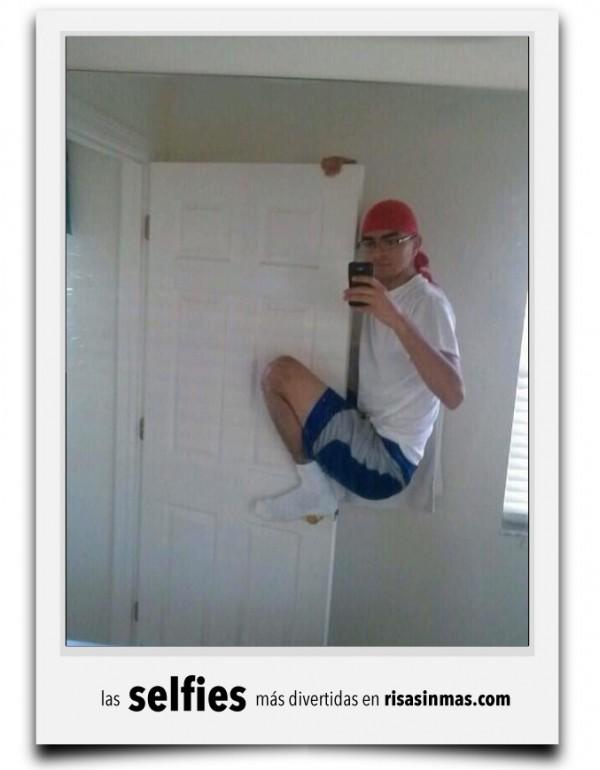 La selfie de la puerta