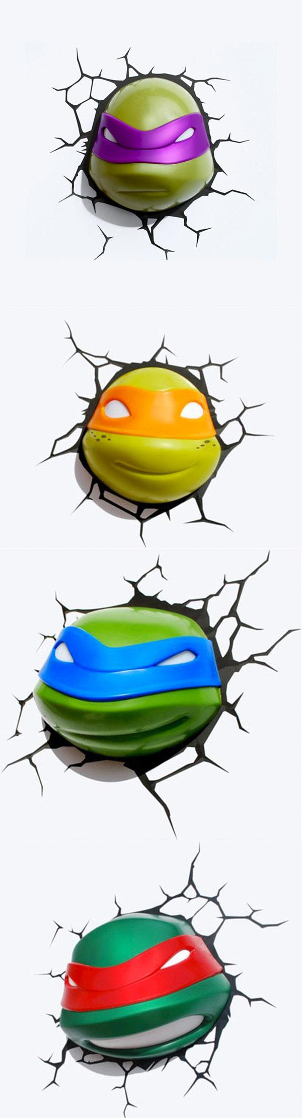 Lámparas de Las Tortugas Ninja