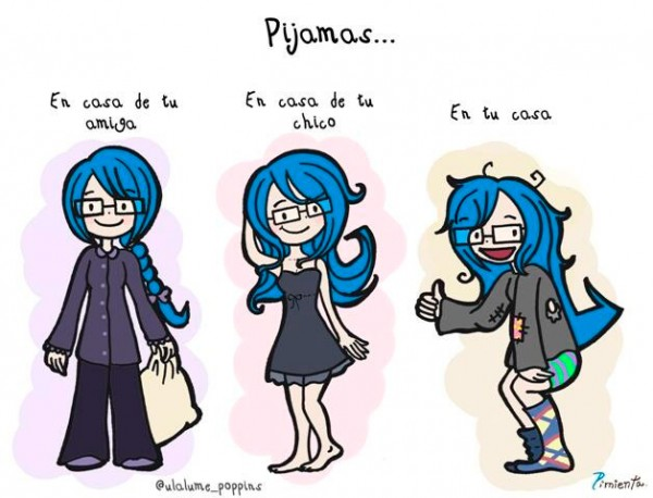 Las chicas y los pijamas