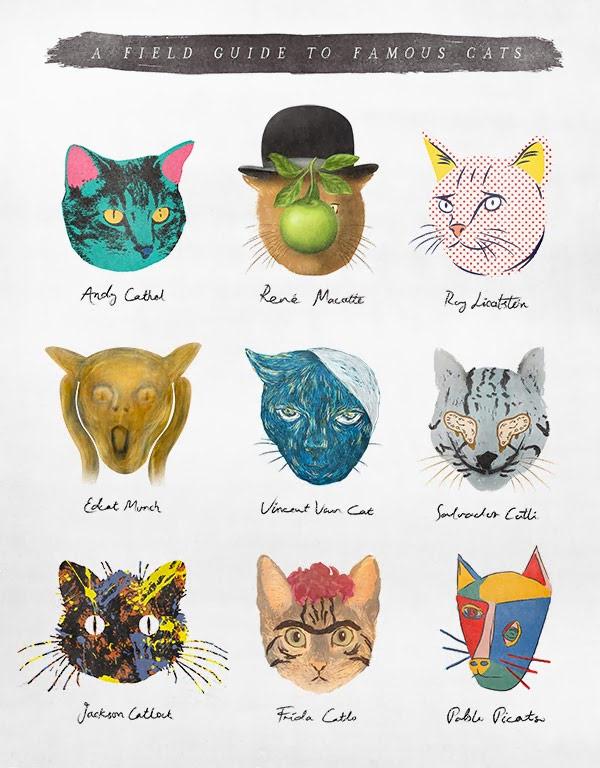 Los gatos y el arte