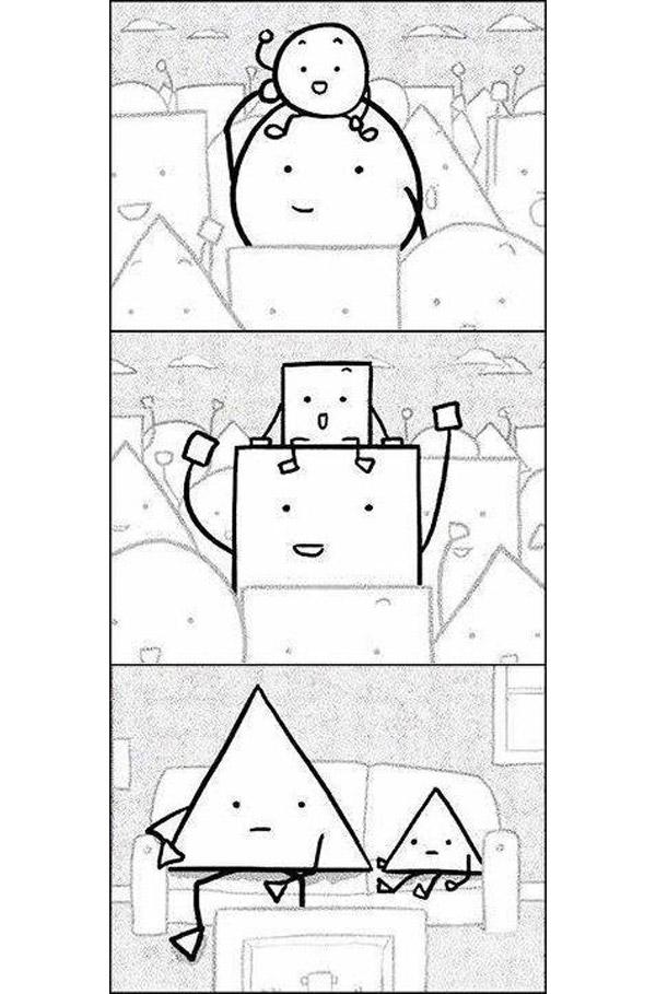 Los triángulos no pueden...
