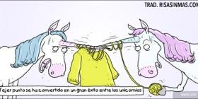 Los unicornios aman hacer punto