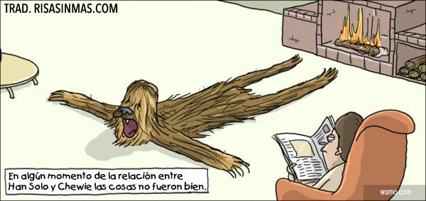 Mala relación entre Han Solo y Chewie