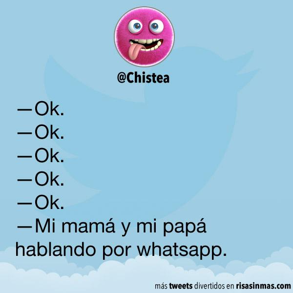 Mi mamá y mi papá hablando por whatsapp