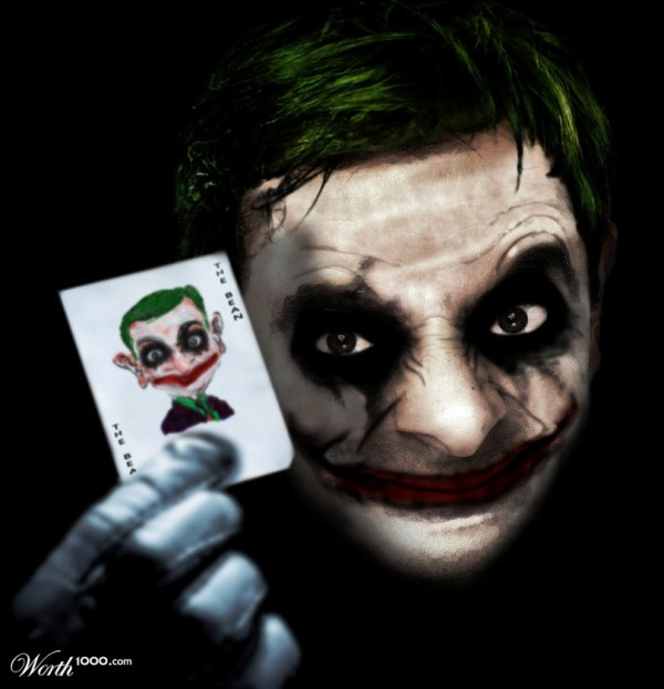 Mr. Bean como el Joker