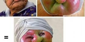 Parecidos razonables: Abuela y manzana