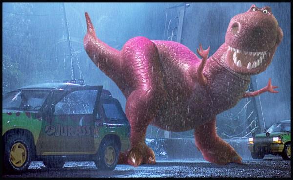Parque Jurásico versión Pixar