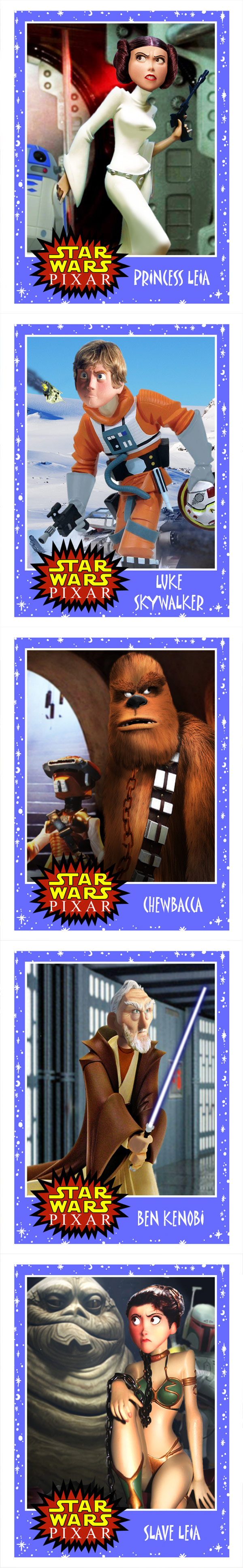 Personajes de Star Wars versión Pixar