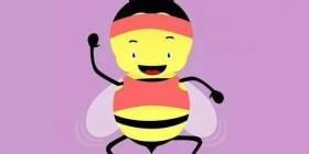 ¿Qué hace una abeja en un gimnasio?