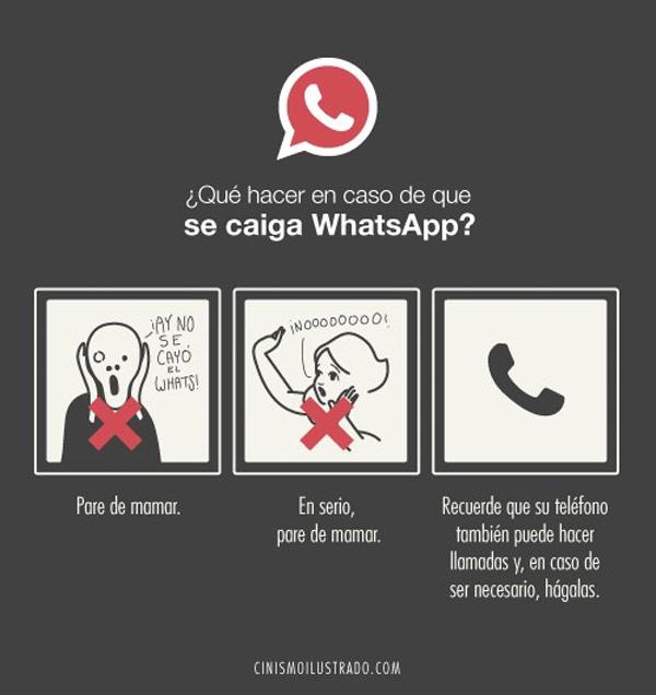 ¿Qué hacer en caso de que se caiga WhatsApp?