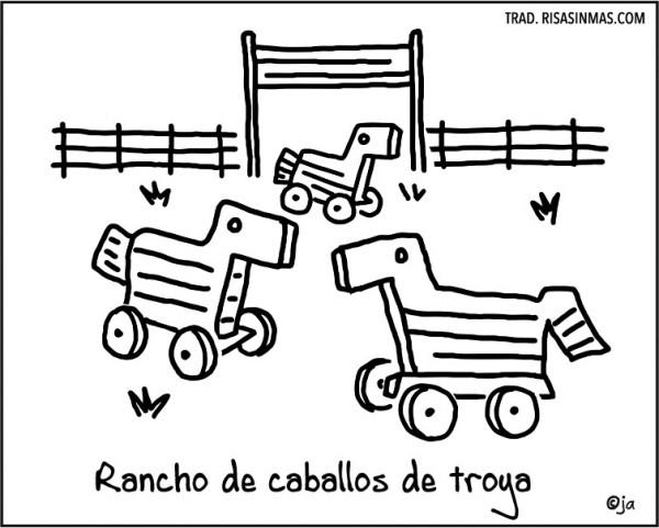 Rancho de caballos de troya