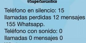 Teléfono con sonido y WhatsApp