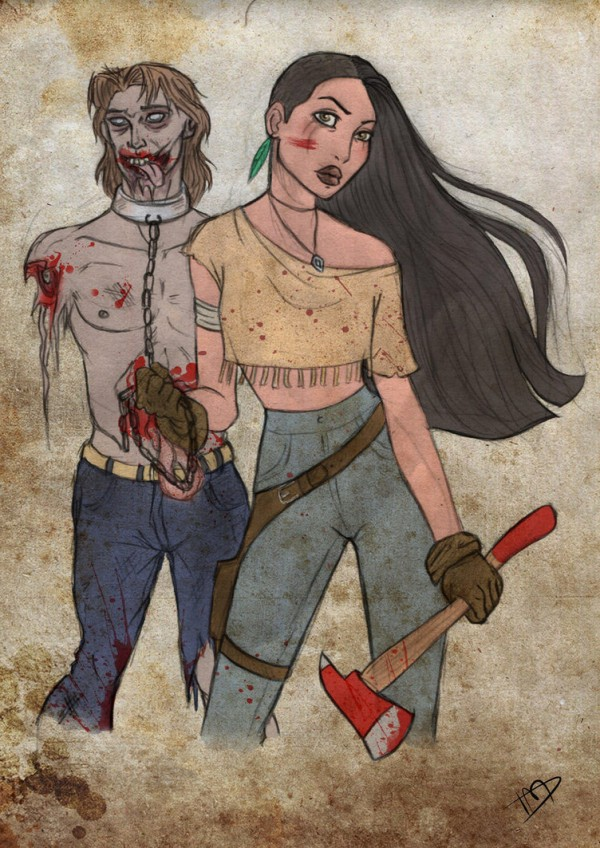 The Walking Disney : Pocahontas y John