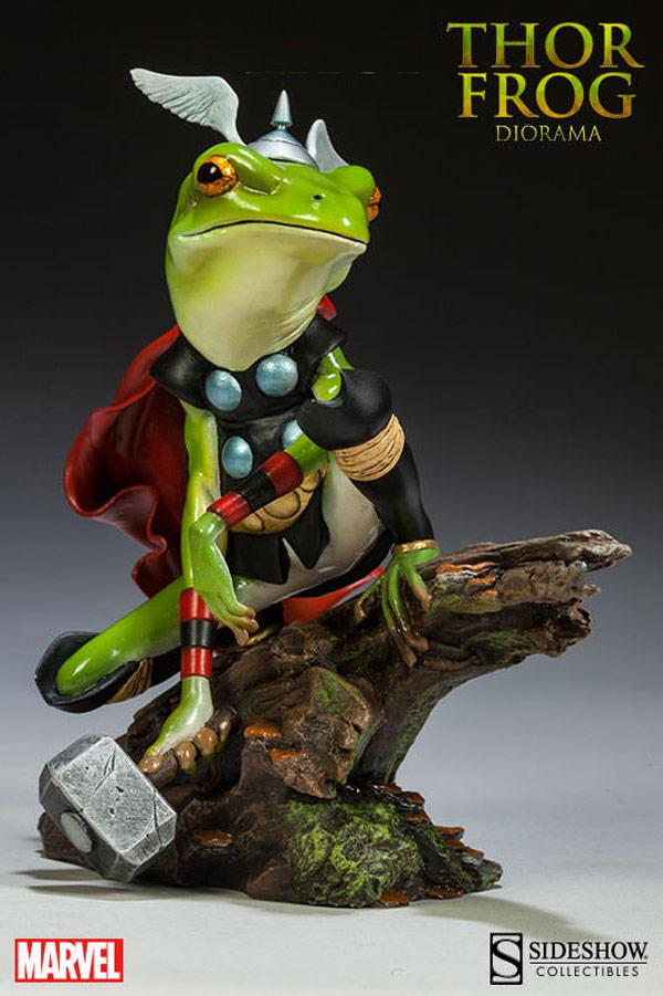 Thor convertido en rana