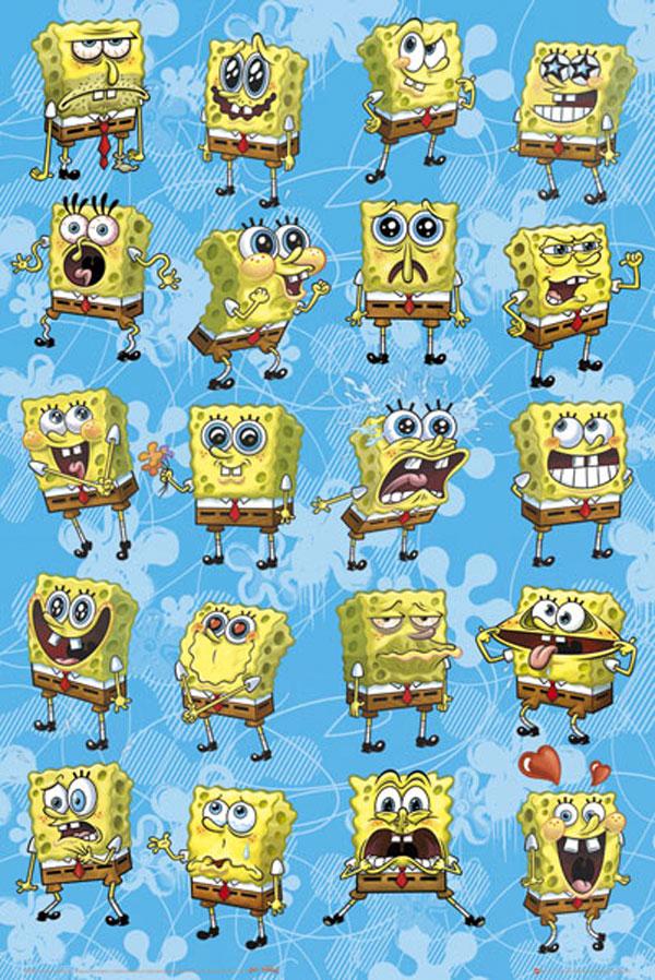 Todas las caras de Bob Esponja