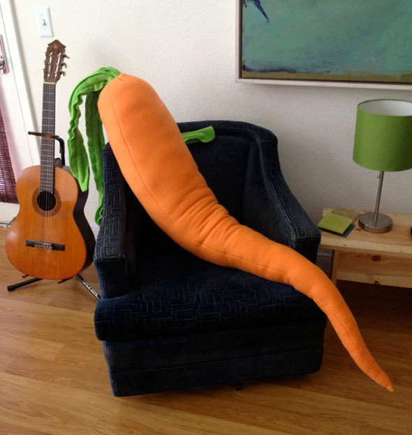 Almohada zanahoria