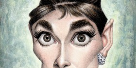 Caricatura de Audrey Hepburn