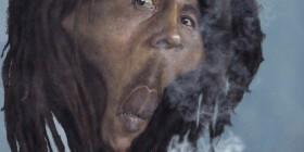 Caricatura de Bob Marley