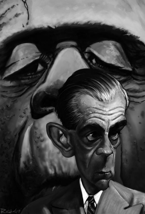 Caricatura de Boris Karloff