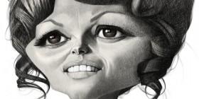 Caricatura de Claudia Cardinale