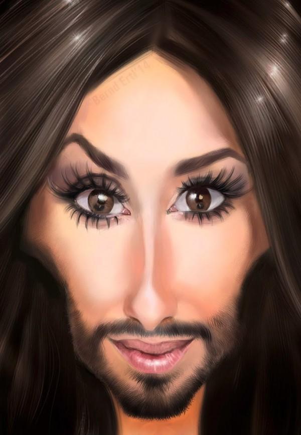 Caricatura de Conchita Wurst