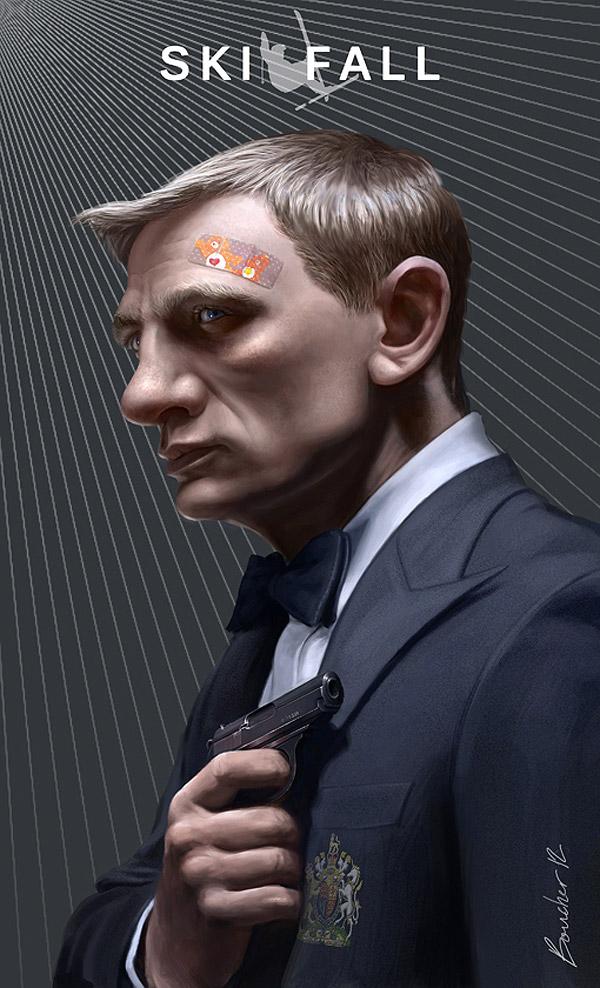 Caricatura de Daniel Craig