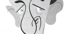 Caricatura de David Niven