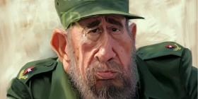 Caricatura de Fidel Castro