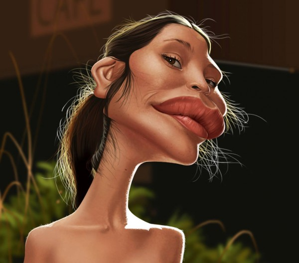 Caricatura de Gemma Arterton